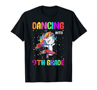Dancing Into 9th Grade Ballet Unicorn Back to School T-Shirt