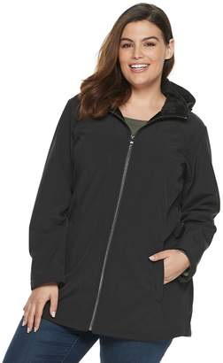 ZeroXposur Plus Size Nicole Hooded Soft Shell Jacket