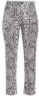 Joe's Jeans Women's High-Rise Scaled Python-Print Cigarette Jeans