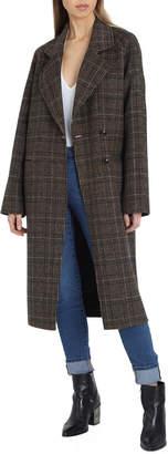 AVEC LES FILLES Double Face Wool-Blend Coat
