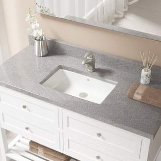 MRDirect Vitreous China Rectangular Undermount Bathroom Sink with Overflow And Drain Assembly Sink