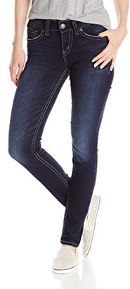 Silver Jeans Women's Suki Fit Mid Skinny Jean $69 thestylecure.com