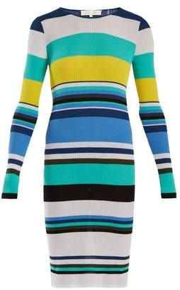 Diane von Furstenberg Striped Cotton Blend Dress - Womens - Blue Multi