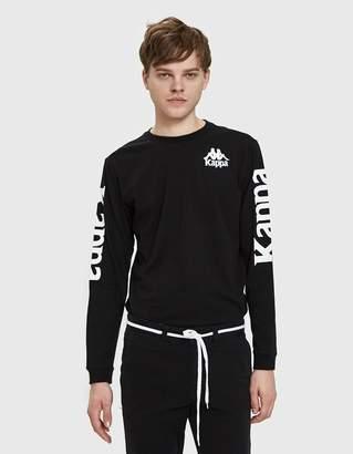 Kappa Authentic Ruiz L/S T-Shirt in Black
