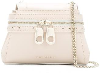 Twin-Set front zip crossbody bag $233.45 thestylecure.com