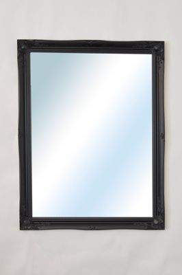 MirrorOutlet Large Black Ornate Antique Big Wall Mirror 3Ft11 X 3Ft Single (30)