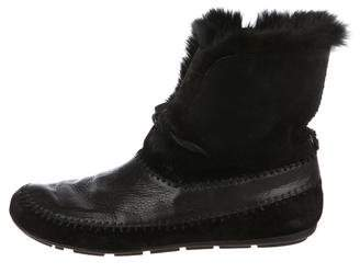 House Of Harlow Fur Ankle Boots