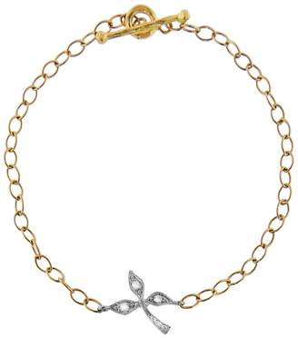 Cathy Waterman Three Leaf Diamond Bracelet