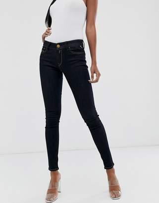 Replay skinny mid raise Jeans in blue black