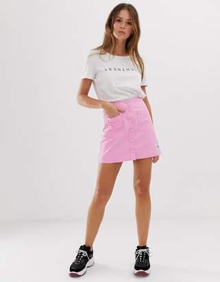 Calvin Klein Jeans button through skirt with logo