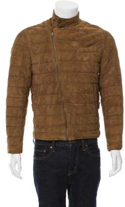 Massimo Dutti Suede Horizontal Quilted Jacket