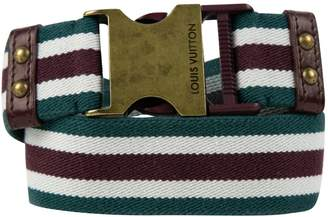Louis Vuitton Green Cotton Belts