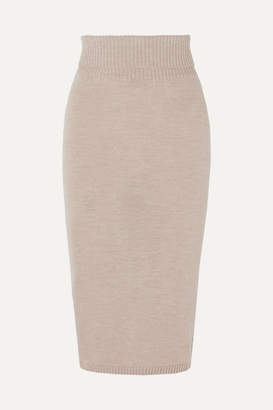 Max Mara Leisure Wool Midi Skirt - Beige
