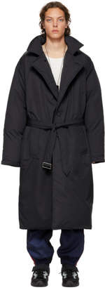 Givenchy Reversible Black Down Oversized Coat