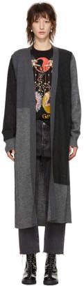 McQ Grey Patchwork Cardigan