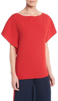Ralph Lauren Corinna Round-Neck Short-Sleeve Top