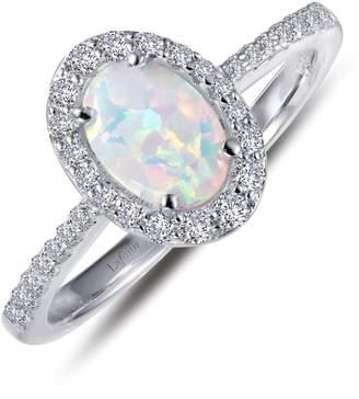 Lafonn Simulated Diamond & Opal Ring