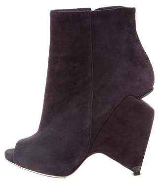 Nicholas Kirkwood Suede Structured Booties