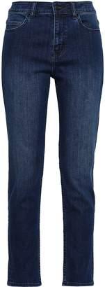 Kate Spade Broome Street Cropped High-rise Slim-leg Jeans