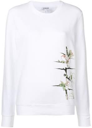Loewe floral printed sweatshirt
