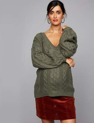 A Pea in the Pod Cable Knit Maternity Sweater