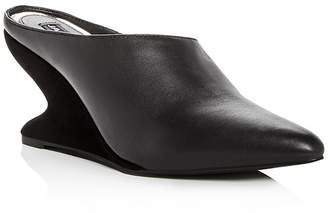 Jaggar Women's Leather & Suede Sculpted Wedge Mules
