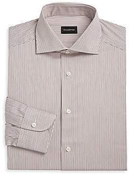 Ermenegildo Zegna Men's Diagonal Stripe Cotton Button-Down Shirt