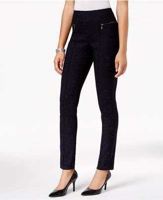 Style & Co Feather-Print Skinny Pants, Only at Macy's $49.50 thestylecure.com