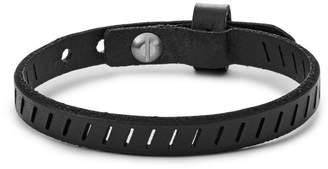 Fossil Vintage Casual Black Leather Bracelet