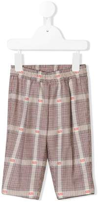 Gucci Kids checked logo trousers