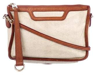 MZ Wallace Leather-Trimmed Canvas Crossbody