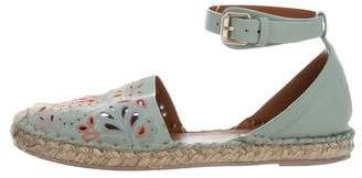 Valentino Leather Espadrille Flats