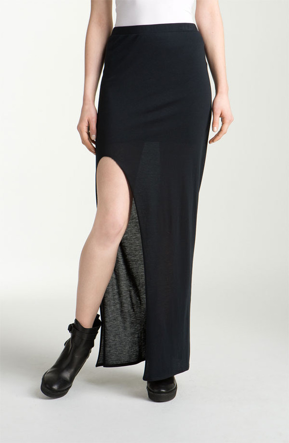 Helmut Lang HELMUT 'Kinetic' Jersey Maxi Skirt
