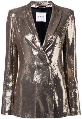 Ainea sequin double breasted blazer