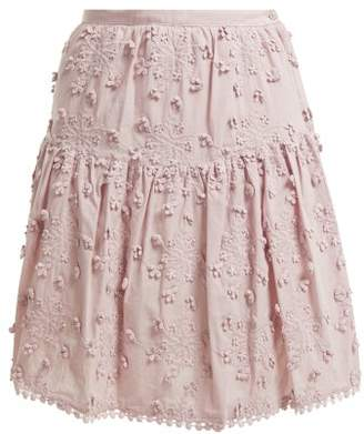 See by Chloe Embroidered Mini Skirt - Womens - Light Pink