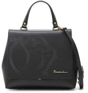 Braccialini Vanessa Flap Leather Satchel