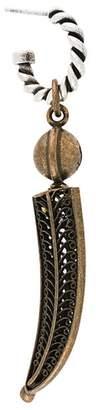 Saint Laurent horn pendant earrings