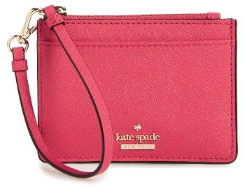 Kate Spade Women's Kate Spade New York Cameron Street - Mellody Leather Card Case - Pink