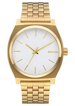 Nixon Time Teller Women's Watch (37mm. White/Gold Face/Gold Metal Band)