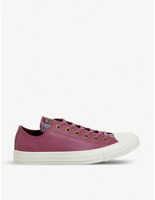 Converse low-top reptile embossed trainers