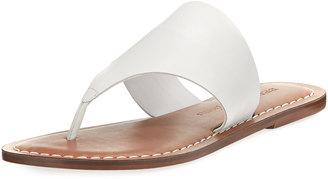 Bernardo Monica Low Flat Thong Sandal, White $99 thestylecure.com