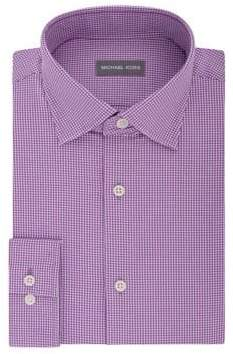 Michael Kors Regular-Fit Airsoft Stretch Houndstooth Dress Shirt