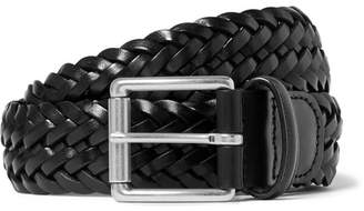 Andersons Anderson's - 3.5cm Black Woven Leather Belt - Black