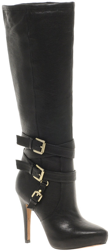 Sam Edelman Roula Leather Heeled Knee High Boot