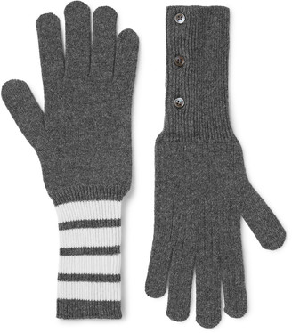 Thom Browne Striped Cashmere Gloves $730 thestylecure.com