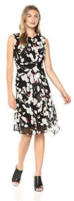 Ellen Tracy Women's Twisted Front Dress