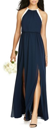 Women's Social Bridesmaids Halter Chiffon Gown $198 thestylecure.com