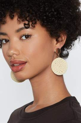 Nasty Gal Straw on Your Strengths Circle Earrings