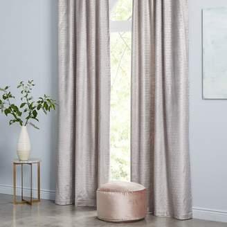 west elm Cotton Luster Velvet Metallic Ogee Curtain