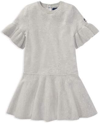 Ralph Lauren Girls' Loryelle Wool Bell-Sleeve Sweater Dress - Little Kid